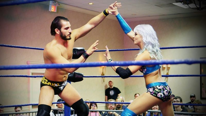 Candice LeRae got the better of Johnny Gargano at Absolute Intense Wrestling in an Intergender match
