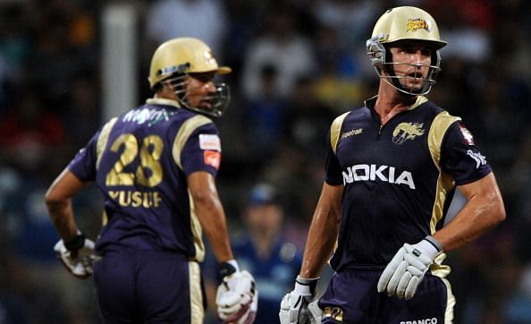 Doeschate during one of his knocks for the KKR franchise