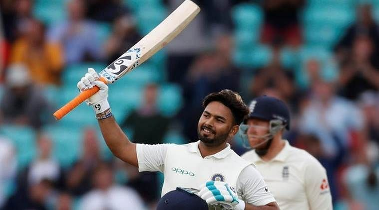 Rishabh Pant after scoring his maiden Test century against England