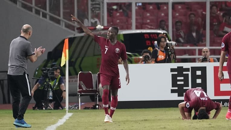 Abdulrasheed Umaru of Qatar was the star of the night with two goals and a couple of assists (Image Courtesy: AFC)