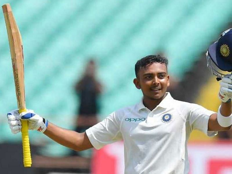 Prithvi Shaw on his debut Test