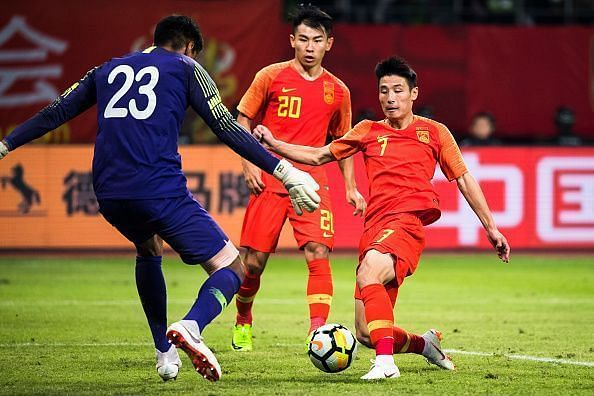 India played out a goalless draw against China