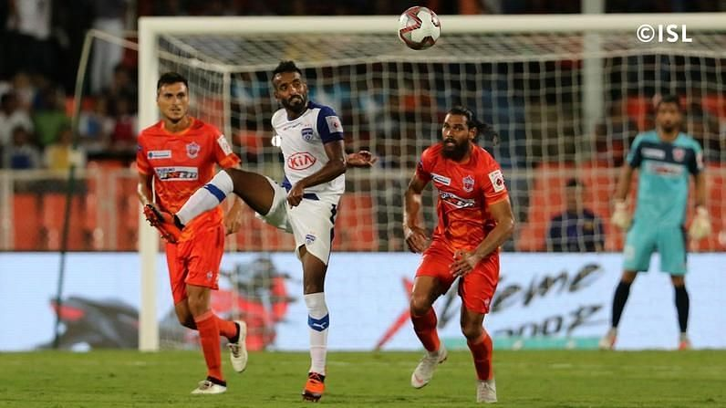 Harmanjot Khabra was once again industrious in the Blues