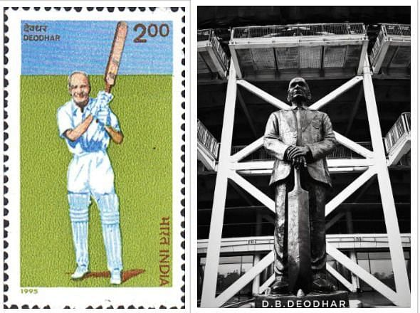 The Commemorative Stamp Issued in his name and the Statue