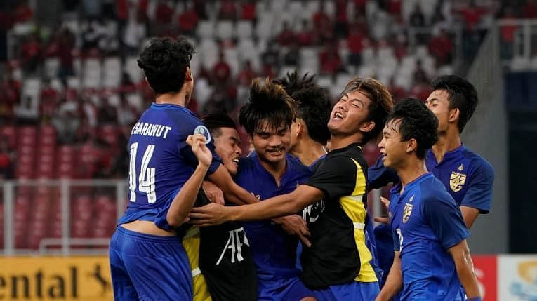 Thailand jubilant after scoring the equalizer from Saengthopho