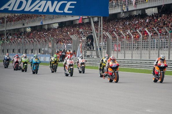A MotoGP race at the Sepang International Circuit, Malaysia