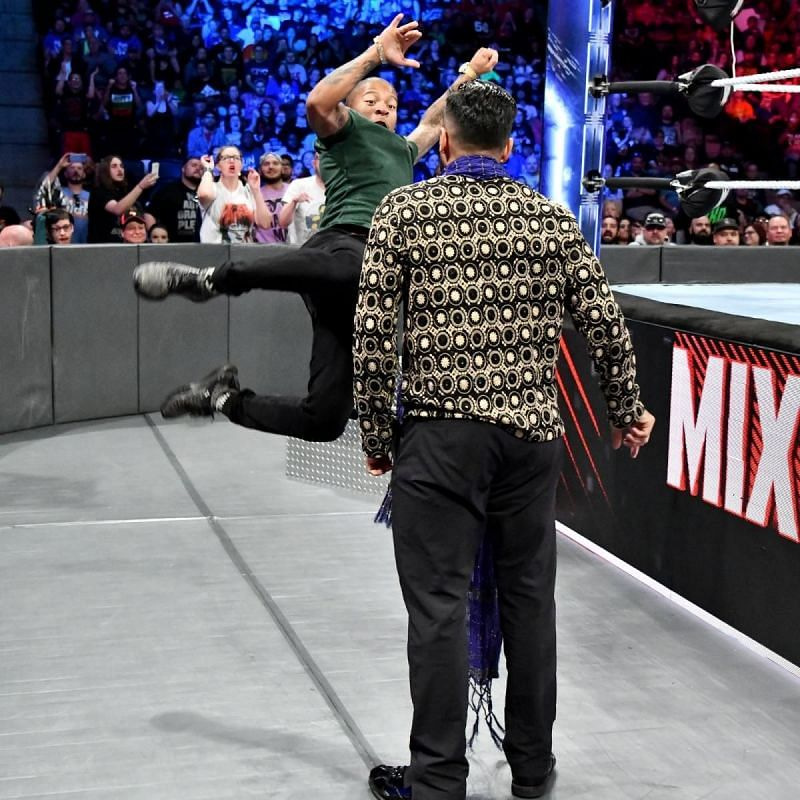 These two had an altercation on the Mixed Match Challenge.