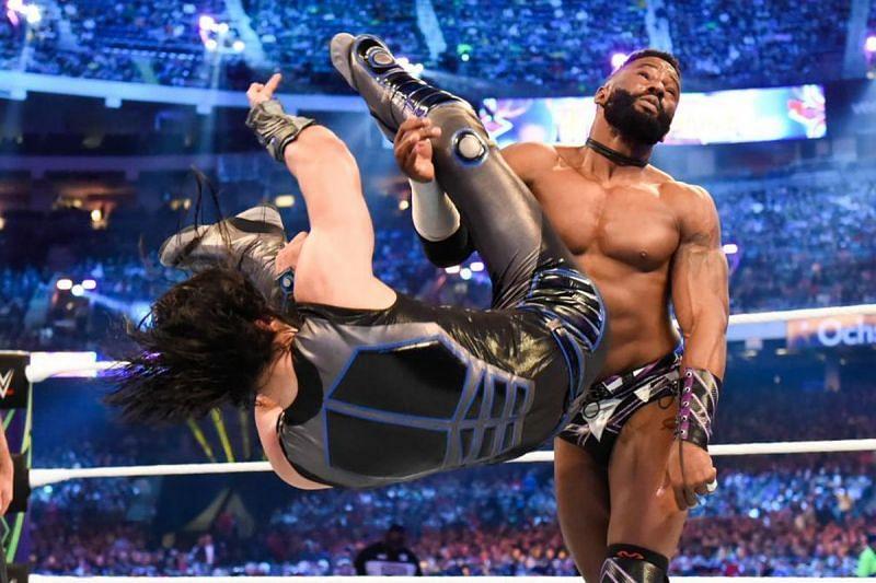 Mustafa Ali in action at WrestleMania this year