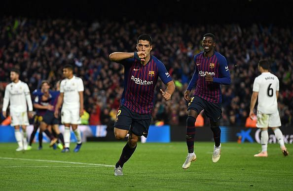 Suarez scored his first hat-trick in an El Clasico last weekend