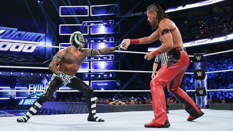 Nakamura vs Mysterio