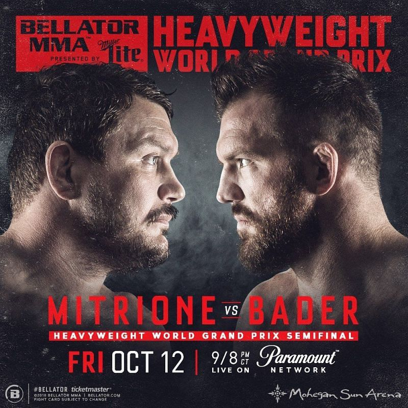 Mitrione and Bader: Set to headline Bellator 207