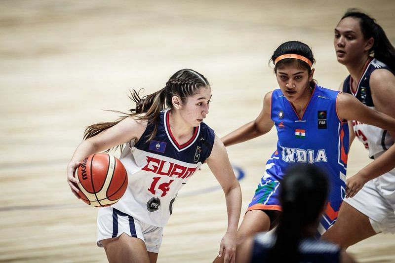 Elysia Perez of Guam scored 12 points for Guam (Image Courtesy: FIBA)