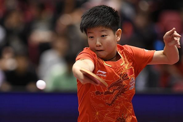 Gold medalist Yingsha Sun of China