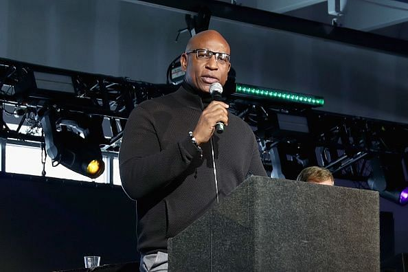 Eric Dickerson at the Leigh Steinberg Super Bowl Party 2018