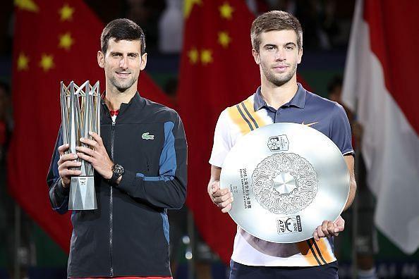 Djokovic holding the winner