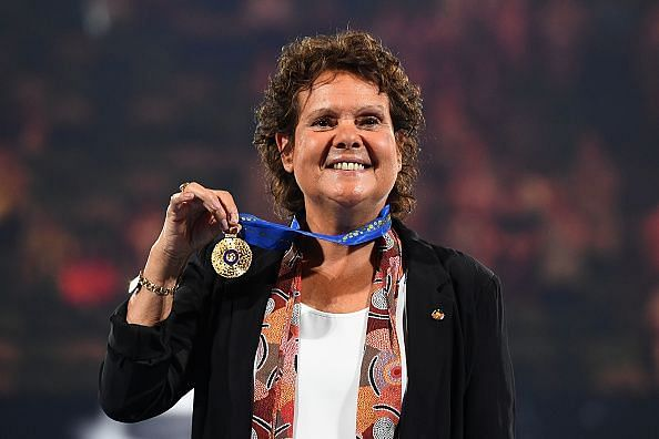 Evonne Goolagong Cawley at the 2018 Australian Open