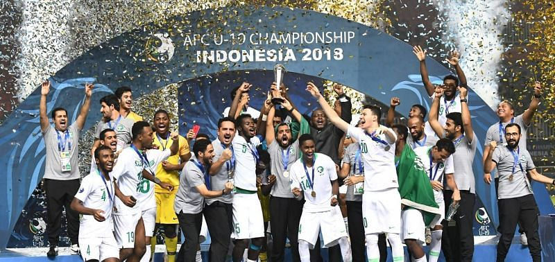 Victorious Saudi Arabian Under-19 team (Image Courtesy: Foxsports Asia)