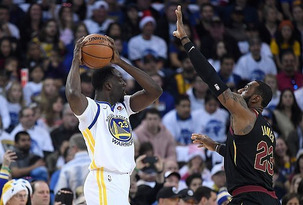 Draymond Green registered a triple-double to help the Warriors beat the Cavaliers