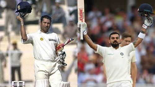 Sachin and Kohli in Test matches