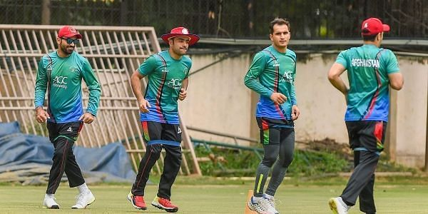File pic of afghan players practicing