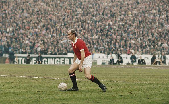 Bobby Charlton - 1966 Ballon d'Or Winner in a Chelsea v Manchester United match -1973