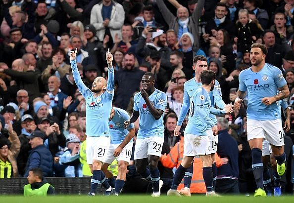 David Silva scored after just 12 minutes of today