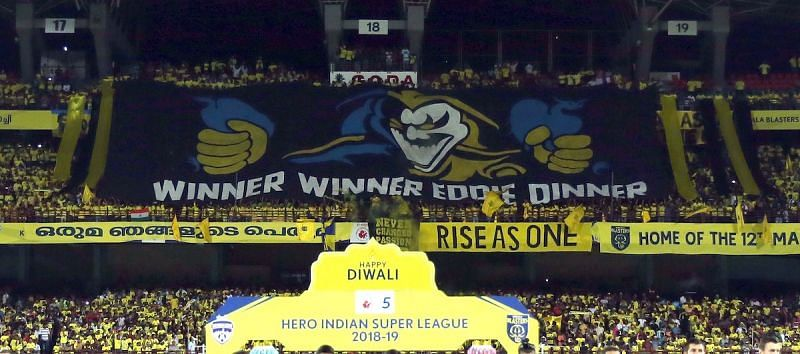 The Manjappada welcomed their rivals to a raucous atmosphere (Photo: ISL)