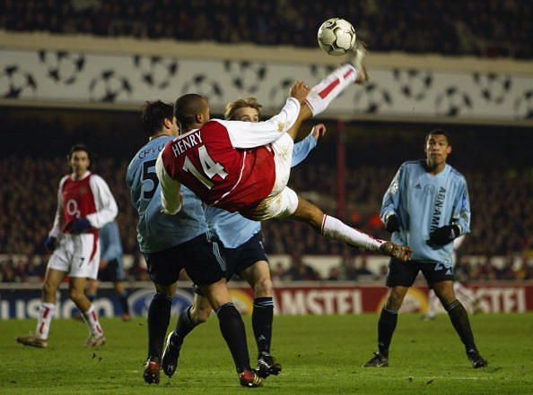 Thierry Henry spent his career for the most part at Arsenal