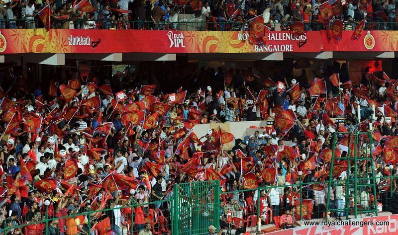 The Bengaluru crowd at the M. Chinnaswamy Stadium is electric