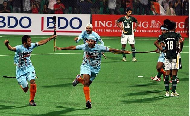 India vs Pakistan at the 2010 World Cup