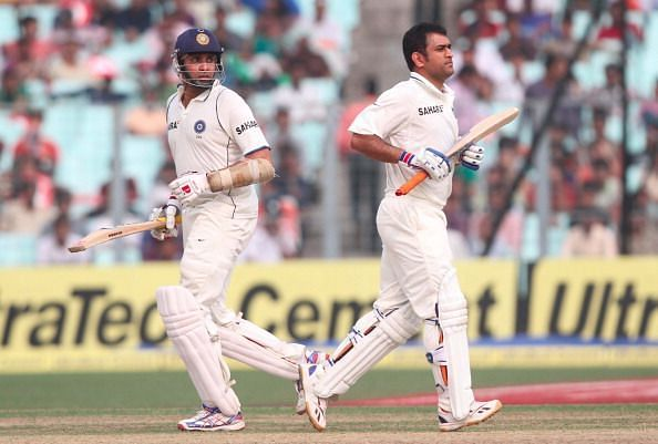Laxman and MS Dhoni