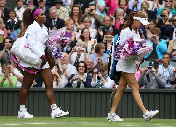 Radwanska and Williams at The Championships Final - Wimbledon 2012