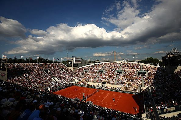 A panoramic view of Court Suzanne Lenglen