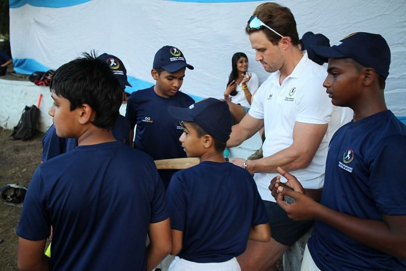 Fans gathered after the end of the day to greet their cricketing idols