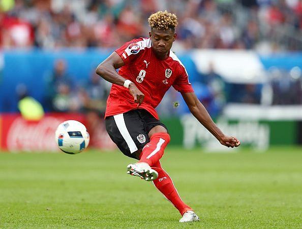 Alaba is a regular free-kick taker for Bayern Munich