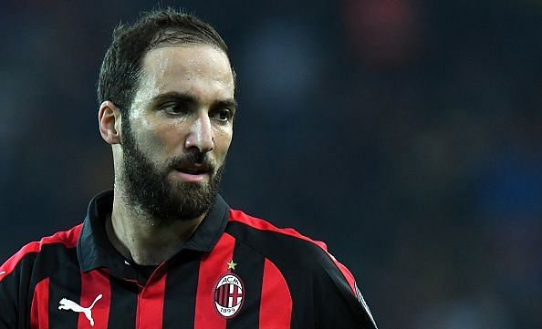 Gonzalo Higuain will be a big miss for the AC Milan side