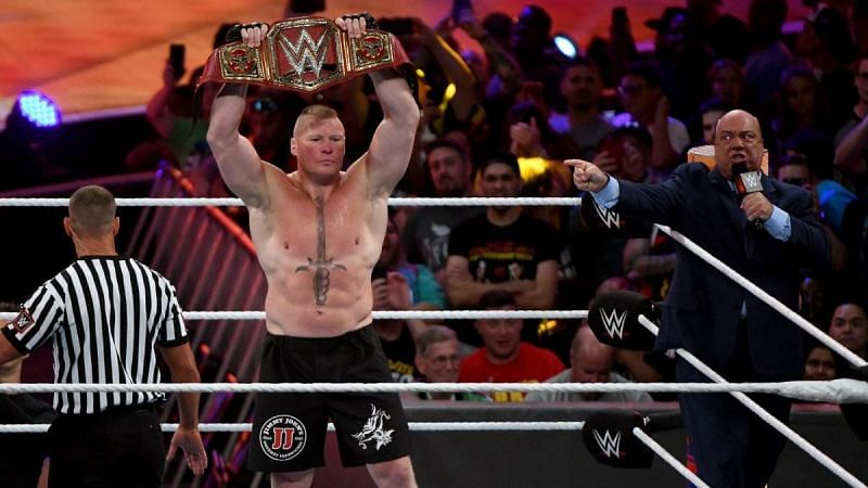 Brock Lesnar decimated Strowman at WWE Crown Jewel