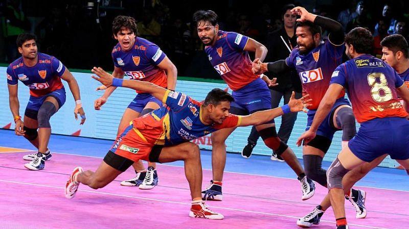 Prashant Kumar Rai was the top scorer for UP Yoddha tonight
