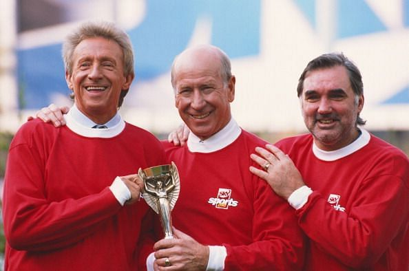 Denis Law, Bobby Charlton, and GeorgeBest - 3 winners of Ballon d' Or for Manchester United.