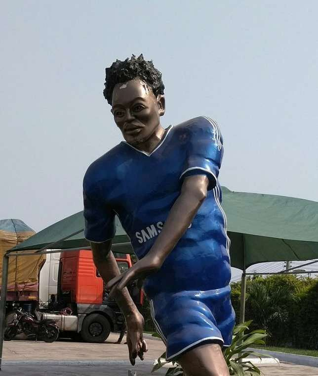 Michael Essien immortalised in Kumasi, Ghana