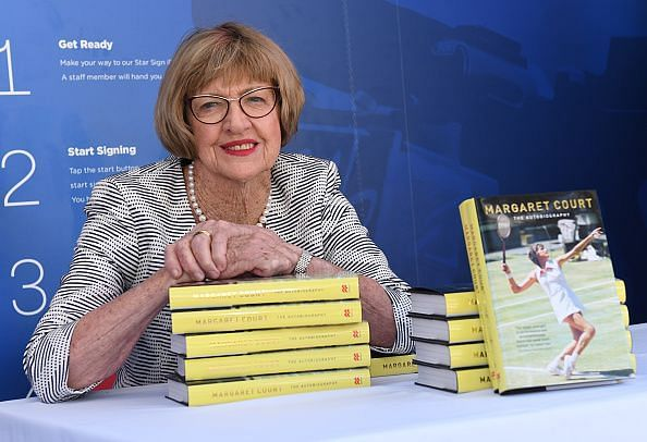 Margaret Court Smith at the launch of her auto-biography at The 2017 Australian Open