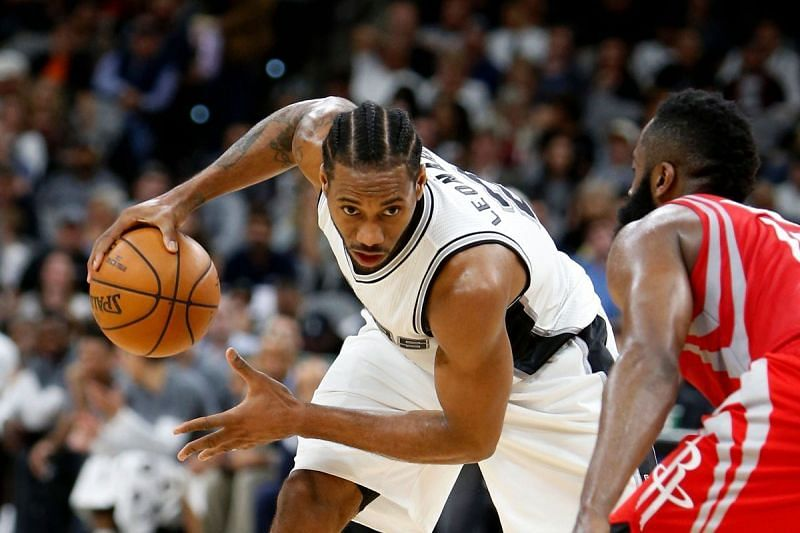 Kawhi scored 39 points against James Harden and the Houston Rockets. Credit: The Ringer