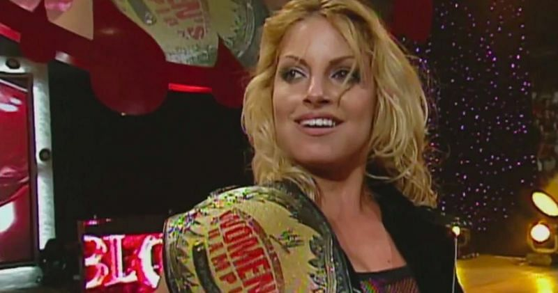 Trish Stratus is currently tied with Charlotte Flair for the most number of women