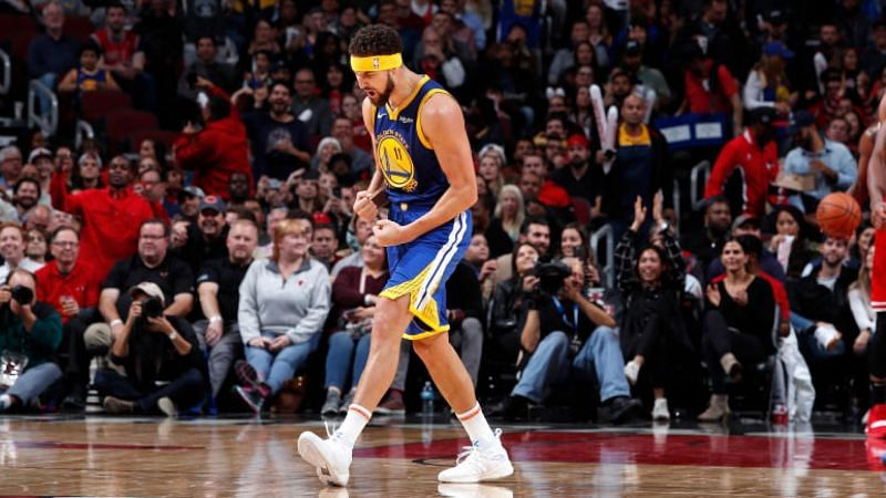 Thompson set the NBA record with 14 threes in a single game