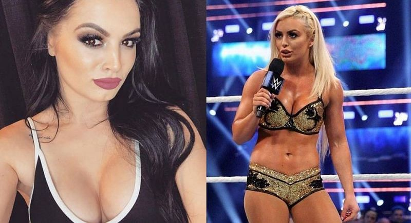 Paige (left) and Mandy Rose (right) started off their relationship with several disagreements