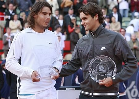 Federer suffered another agonizing defeat at the hands of his arch-rival in the 2008 Hamburg final