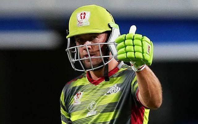 AB de Villiers was sole performer for Spartans in the tournament opener