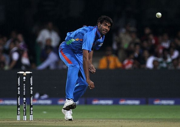 Munaf Patel during the 2011World Cup
