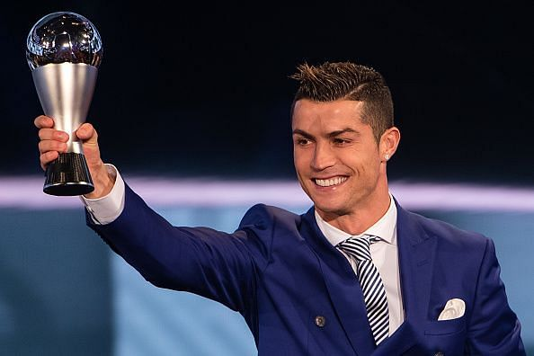 Cristiano Ronaldo had won his first Ballon d'Or trophy with Manchester United in 2008.