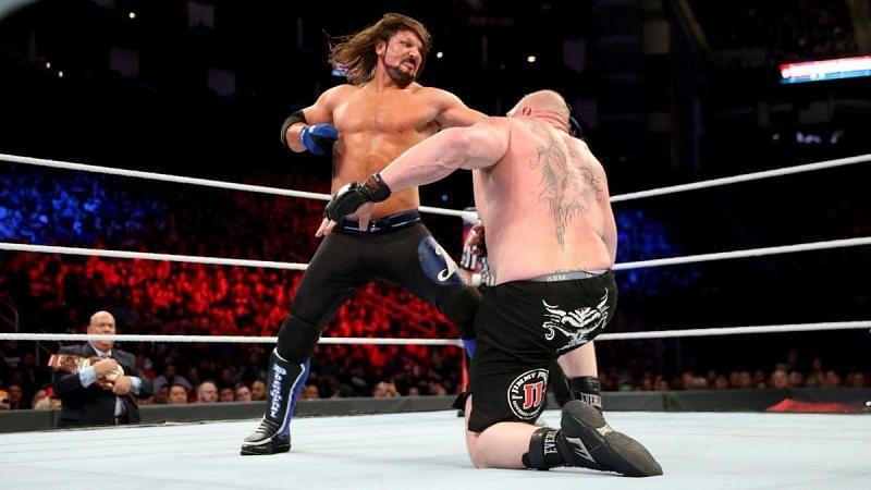 Brock Lesnar vs. AJ Styles was a phenomenal match